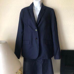 Women's J Crew Navy Suit
